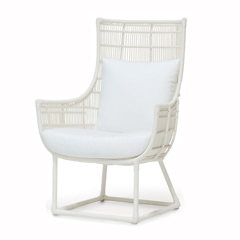 White Woven Highback Chair