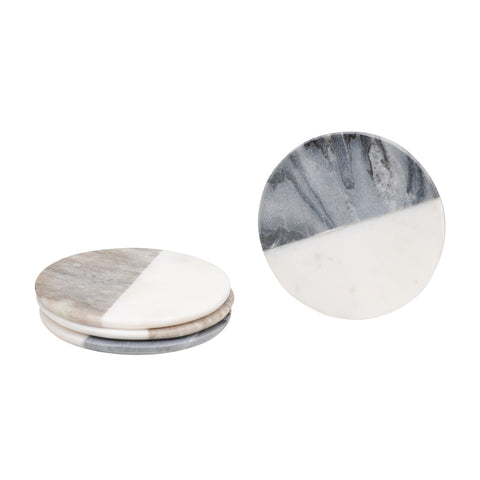 MIXED MARBLE COASTERS