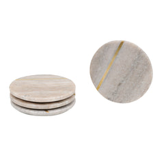 ROUND SATIN BRASS COASTERS