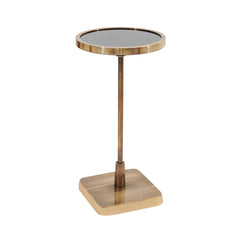 GOLD AND BLACK ACCENT TABLE