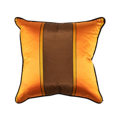 ORANGE SILK STRIPE PILLOW