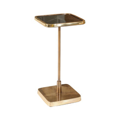 SQUARE GOLD AND BLACK ACCENT TABLE
