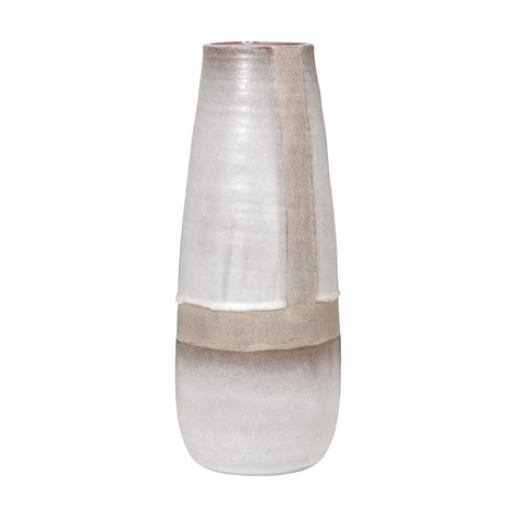 TEXTURED NEUTRAL TONED VASE