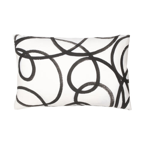 BLACK & WHITE SWIRL PILLOW