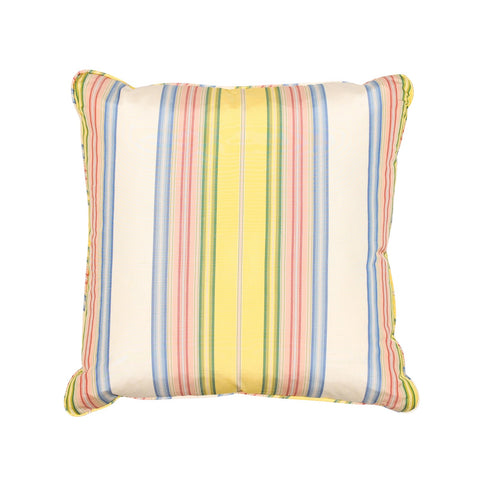 SILK YELLOW STRIPE PILLOW