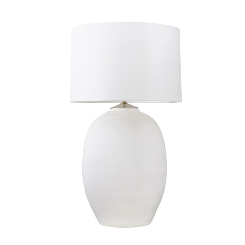 CERAMIC WHITE URN LAMP