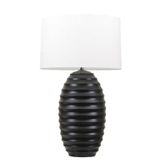 Black Ribbed Lamp