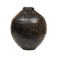 DARK BROWN ANTIQUE JAR