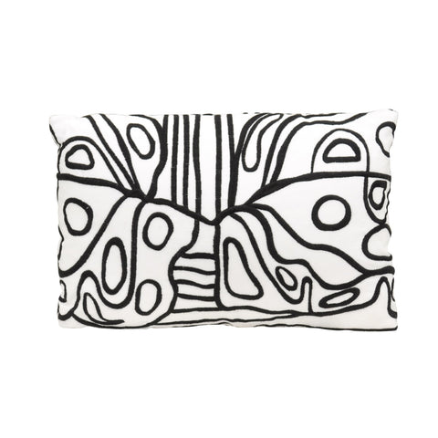 Black & White Squiggle Pillow