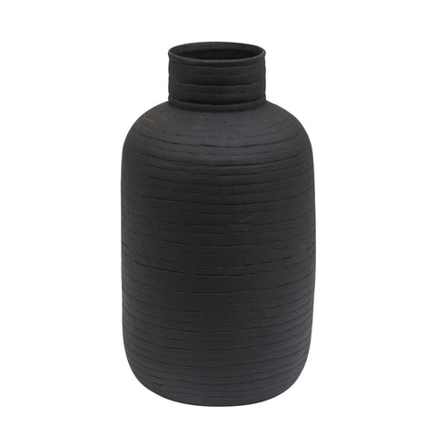 SMALL OBLONG TEXTURED VASE