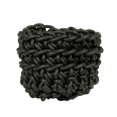 BLACK RUBBER BASKET