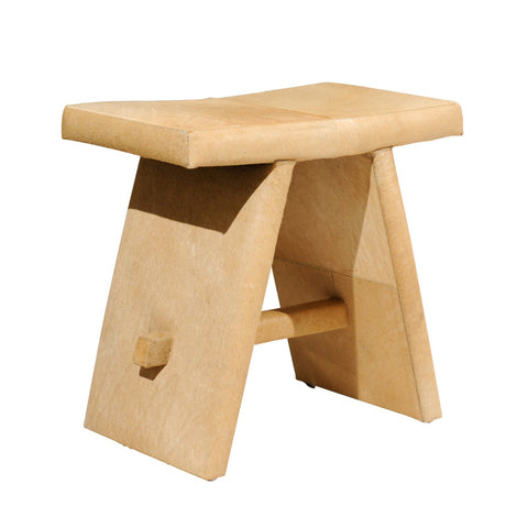 TAN HIDE STOOL
