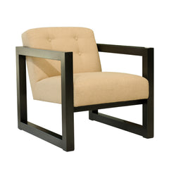 RAFFIA & METAL ARM CHAIR