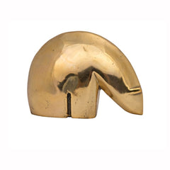 Abstract Brass Polar Bear