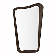 Asymmetric Wood Mirror