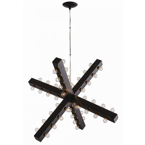 Geometric Bronze Chandelier