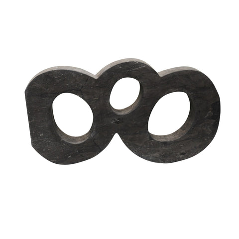 BLACK MARBLE CIRCLE SCULPTURE