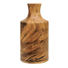 Bottleneck Wood Vase