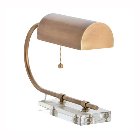 Brass and Lucite Desk Lamp