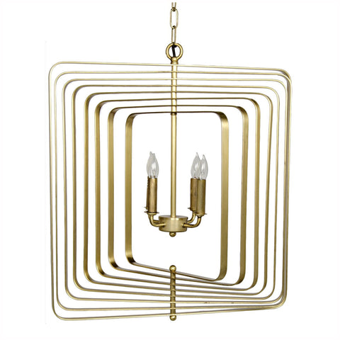 Brass Spiral Chandelier