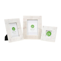 Simple White Marble Frames
