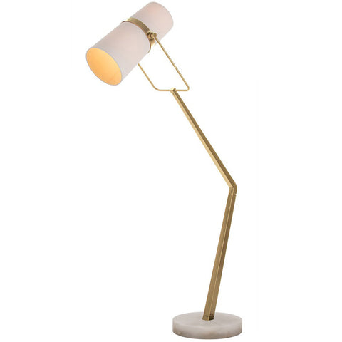 Brass Angled Floor Lamp