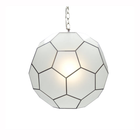 Geometric Frosted Pendant