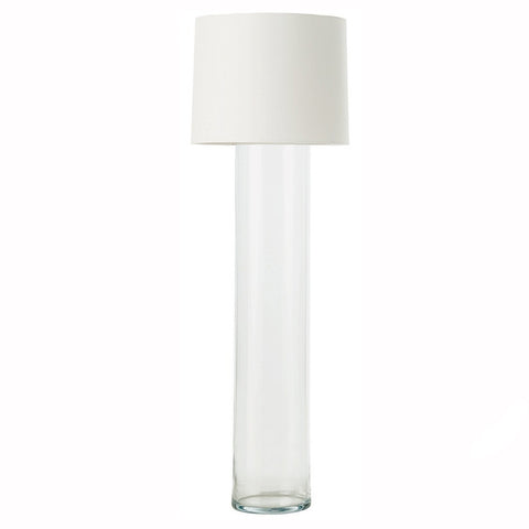 Glass Cylinder Floor Lamp