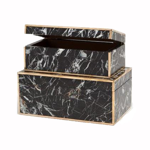 Gold Rimmed Marble Box