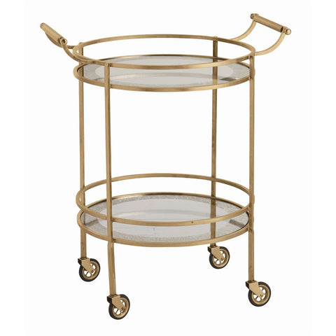 Gold Round Bar Cart