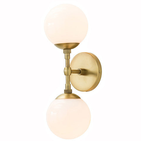 Brass Double Sphere Sconce