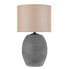 Grey Barrel Lamp