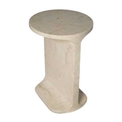 IVORY MARBLE SIDE TABLE