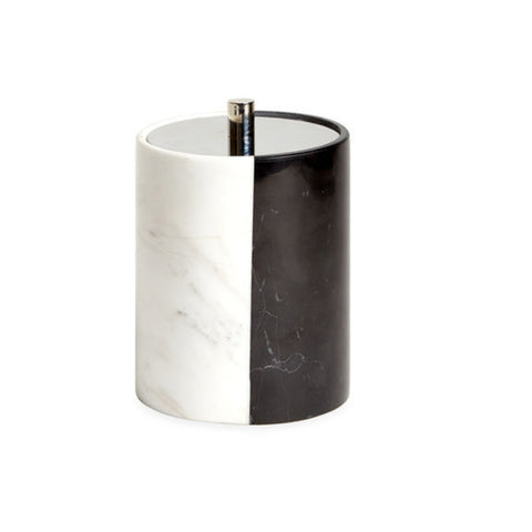 WHITE/BLACK MARBLE CANISTERS
