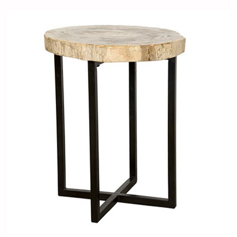 light petrified wood side table – pieces