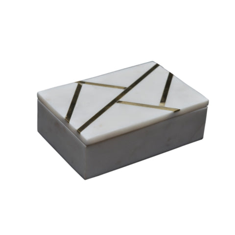 MARBLE & BRASS BOX