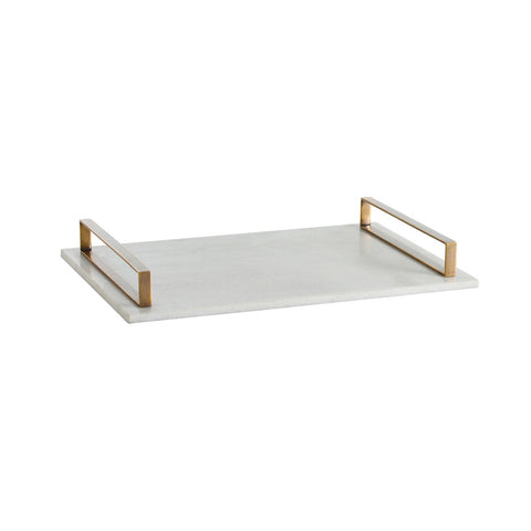 Flat Marble & Brass Tray