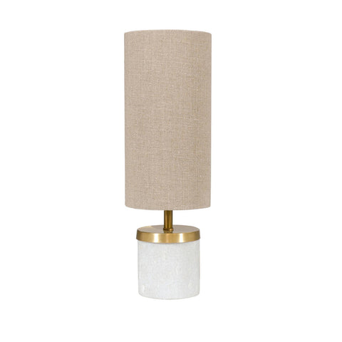 Mini Marble & Brass Cylinder Lamp