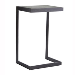 Mirrored Iron Side Table