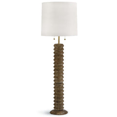 Natural Ribbed Floor Lamp