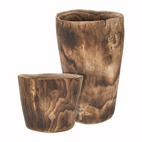 Natural Wood Vases