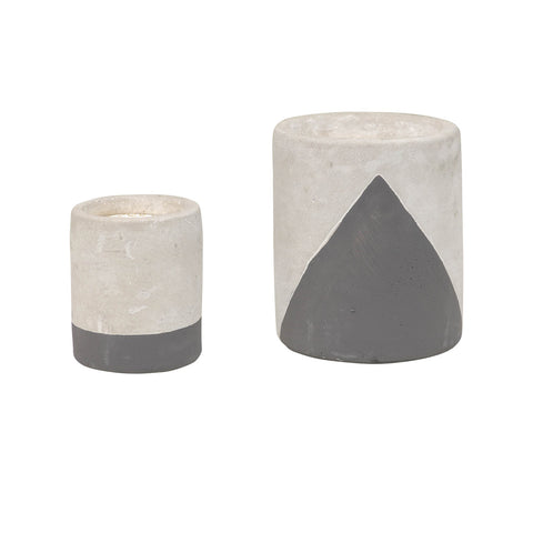 Painted Cement Candles