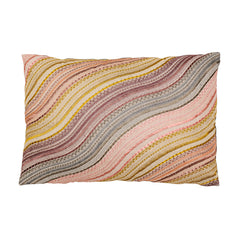 Pink Wave Lumbar Pillow