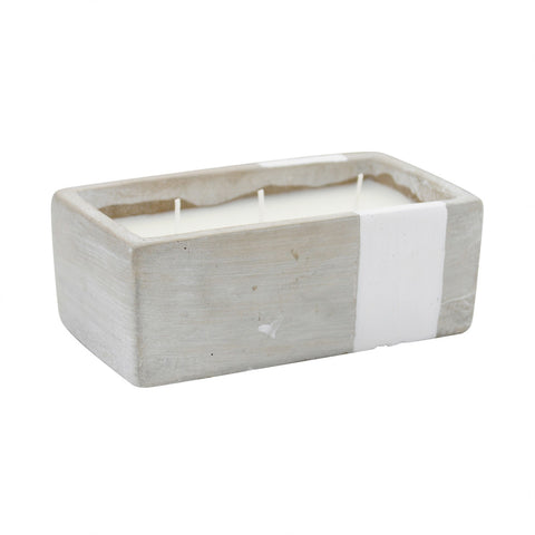 Painted Cement Rectangle Candles