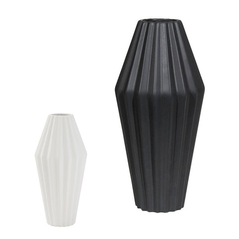 Ribbed Vases