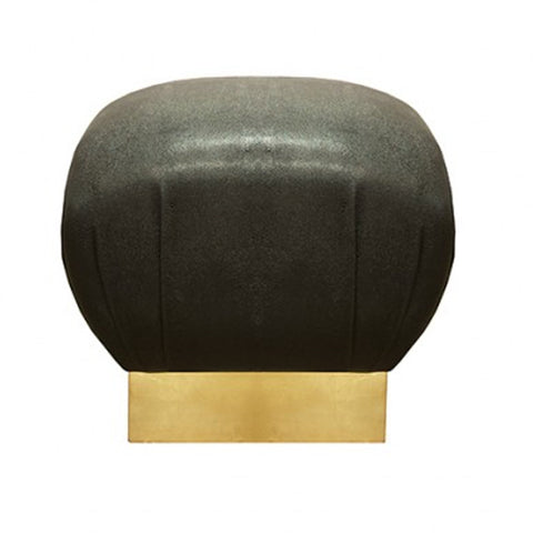 Shagreen & Gold Leaf Stool