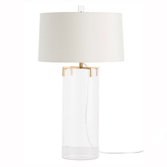 Sleek Glass Table Lamp