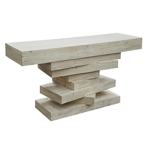 Stacked Wood Console