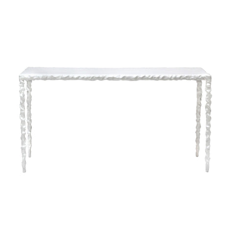 Twisted White Console Table