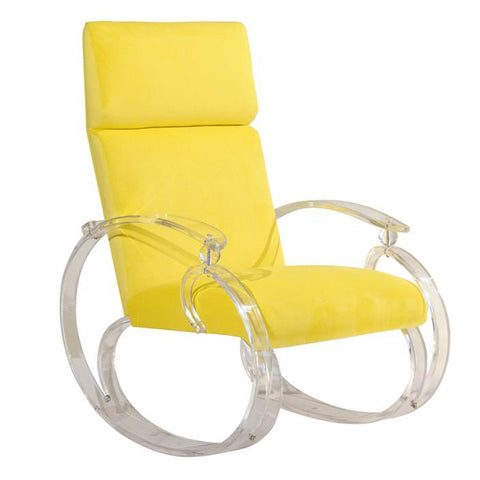 Bright Yellow Lucite Rocker